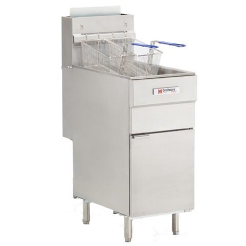 50 lb 4-Tube Deep Fryer -  120,000 BTU's - Natural Gas (Grindmaster-Cecilware FMS504NAT)