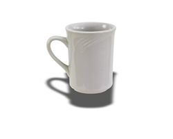 Crestware Mug, 8 oz., swirl embossed pattern, ceramic, Firenze, (FR16)