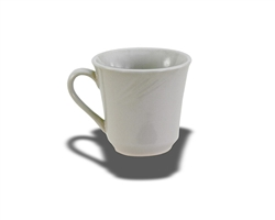 Crestware Kin Mug, 7 oz., swirl embossed pattern, ceramic, Firenze, (FR18)