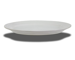"Crestware Platter, 13-1/2"" x 9-1/2"", oval, ceramic, swirl embossed pattern, ceramic, Firenze, (FR53)"