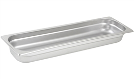 "Gator Chef Half Size Long 2.5"" Deep Anti-Jam Stainless Steel Steam Table Pan - 24 Gauge (Standard Weight)"