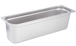 "Gator Chef Half Size Long 6"" Deep Anti-Jam Stainless Steel Steam Table Pan - 24 Gauge (Standard Weight)"