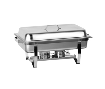 Gator Chef Economy Stainless Steel Chafer with Folding Frame - 9 Quart Capacity