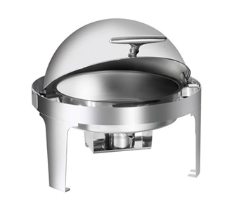 Gator Chef Heavy Weight Round Chafer with Roll Top and Mirror Finish Stainless Steel – 5 Qt. Capacity