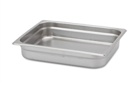 "Gator Chef Half Size 2-1/2"" Deep Anti-Jam Stainless Steel Steam Table Pan - 24 Gauge (Standard Weight)"