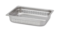 "Gator Chef Half Size Perforated 2-1/2"" Deep Anti-Jam Stainless Steel Steam Table Pan - 24 Gauge (Standard Weight)"