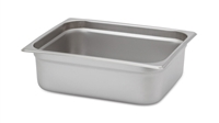 "Gator Chef Half Size 4"" Deep Anti-Jam Stainless Steel Steam Table Pan - 24 Gauge (Standard Weight)"