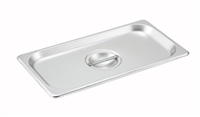 Gator Chef 1/3 Size Solid Cover for 1/3 Stainless Steel Steam Table Pans - 24 Gauge (Standard Weight)