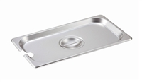 Gator Chef 1/3 Size Notched Cover for 1/3 Stainless Steel Steam Table Pans - 24 Gauge (Standard Weight)