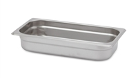 "Gator Chef 1/3 Size 2-1/2"" Deep Anti-Jam Stainless Steel Steam Table Pan - 24 Gauge (Standard Weight)"