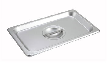 Gator Chef 1/4 Size Solid Cover for 1/4 Stainless Steel Steam Table Pans - 24 Gauge (Standard Weight)
