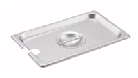 Gator Chef 1/4 Size Notched Cover for 1/4 Stainless Steel Steam Table Pans - 24 Gauge (Standard Weight)
