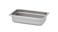 "Gator Chef 1/4 Size 2-1/2"" Deep Anti-Jam Stainless Steel Steam Table Pan - 24 Gauge (Standard Weight)"