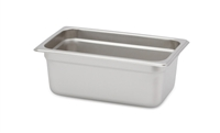 "Gator Chef 1/4 Size 4"" Deep Anti-Jam Stainless Steel Steam Table Pan - 24 Gauge (Standard Weight)"