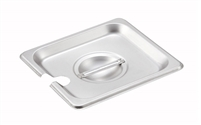 Gator Chef 1/6 Size Notched Cover for 1/6 Stainless Steel Steam Table Pans - 24 Gauge (Standard Weight)