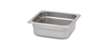 "Gator Chef 1/6 Size 2-1/2"" Deep Anti-Jam Stainless Steel Steam Table Pan - 24 Gauge (Standard Weight)"