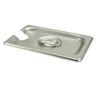 Gator Chef 1/9 Size Notched Cover for 1/9 Stainless Steel Steam Table Pans - 24 Gauge (Standard Weight)
