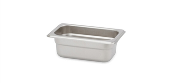 "Gator Chef 1/9 Size 2-1/2"" Deep Anti-Jam Stainless Steel Steam Table Pan - 24 Gauge (Standard Weight)"