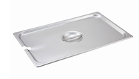 Gator Chef Full Size Notched Cover for Full Stainless Steel Steam Table Pans - 24 Gauge (Standard Weight)