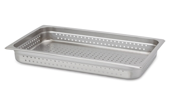 "Gator Chef Full Size Perforated 2-1/2"" Deep Anti-Jam Stainless Steel Steam Table Pan - 24 Gauge (Standard Weight)"