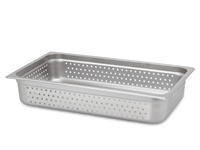 "Gator Chef Full Size Perforated 4"" Deep Anti-Jam Stainless Steel Steam Table Pan - 24 Gauge (Standard Weight)"