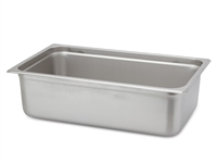 "Gator Chef Full Size 6"" Deep Anti-Jam Stainless Steel Steam Table Pan - 24 Gauge (Standard Weight)"