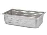 "Gator Chef Full Size Perforated 6"" Deep Anti-Jam Stainless Steel Steam Table Pan - 24 Gauge (Standard Weight)"