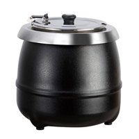 Gator Chef Electric Soup Kettle Warmer with Black Exterior 120V/400W - 11 Qt. Capacity
