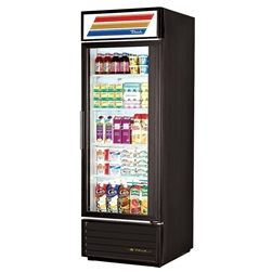True GDM-23-HC-LD Swing Glass Door (4) Shelves Refrigerated Merchandiser