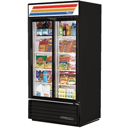 True GDM-33-HC-LD (2) Sliding Door (8) Shelves Refrigerated Merchandiser