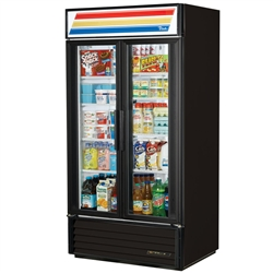 True GDM-35-LD (2) Glass Door (8) Shelves Refrigerated Merchandiser