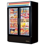 True GDM-49F-HC-LD (2) Glass Door 49 Cu.Ft. Freezer Merchandiser