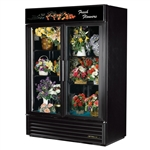 True GDM-49FC-HC~TSL01 (2) Glass Door Floral Merchandiser