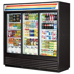 True GDM-69-LD 3-Glass Door Refrigerated Merchandiser