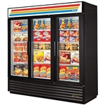True GDM-72F-HC-LD 3-Glass Door 72 Cu.Ft. Freezer Merchandiser