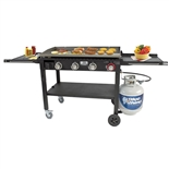 "Outdoor Portable 36"" Wide Flattop Griddle - Propane Gas (Blue Rhino 1643B)"
