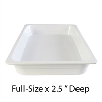 "Thunder Group Gastronorm Melamine Plastic Steam Table Pan - Full Size, 2.5"" Deep (GN1002W)"