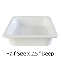 "Thunder Group Gastronorm Melamine Plastic Steam Table Pan - Half Size, 2.5"" Deep (GN1122W)"