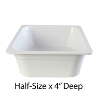 "Thunder Group Gastronorm Melamine Plastic Steam Table Pan - Half Size, 4"" Deep (GN1124W)"