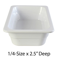 "Thunder Group Gastronorm Melamine Plastic Steam Table Pan - One-Fourth Size, 2.5"" Deep (GN1142W)"