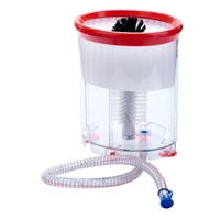 Winco Portable Manual Beer Mug Glass Washer with Nylon Bristle Brushes and Suction Feet - GWB-1