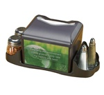 San Jamar Table Top Venue Napkin Dispenser With Advertising Inserts And Caddy, (H4005CTBK)