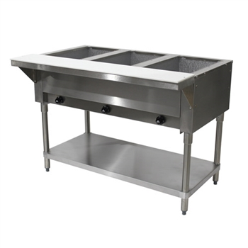 Advance Tabco 3-Well Natural Gas Steam Table - HF-3G-NAT