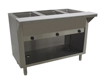 Advance Tabco 3-Well Natural Gas Enclosed Base Steam Table HF-3G-NAT-BS