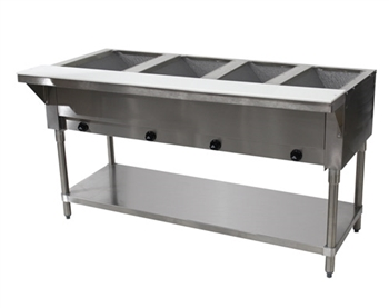 Advance Tabco 4-Well Natural Gas Steam Table HF-4G-NAT
