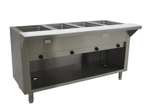 Advance Tabco Well Natural Gas Enclosed Base Steam Table - 4 well gas steam table