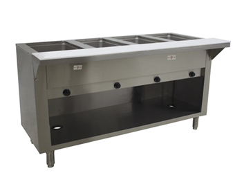 Advance Tabco 4-Well Natural Gas Enclosed Base Steam Table 14,000 BTU's HF-4G-NAT-BS