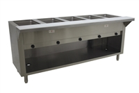 Advance Tabco 5-Well Natural Gas Cabinet Base Steam Table HF-5G-NAT-BS
