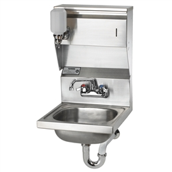 Krowne 16-inch Wide Hand Sink, Wall Mount with Bracket,  (H-7)