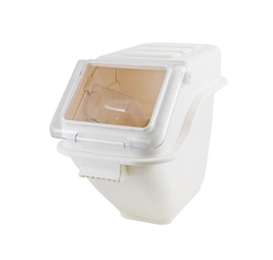 5 Gallon Capacity Polypropylene Ingredient Bin with Clear Polycarbonate Lid